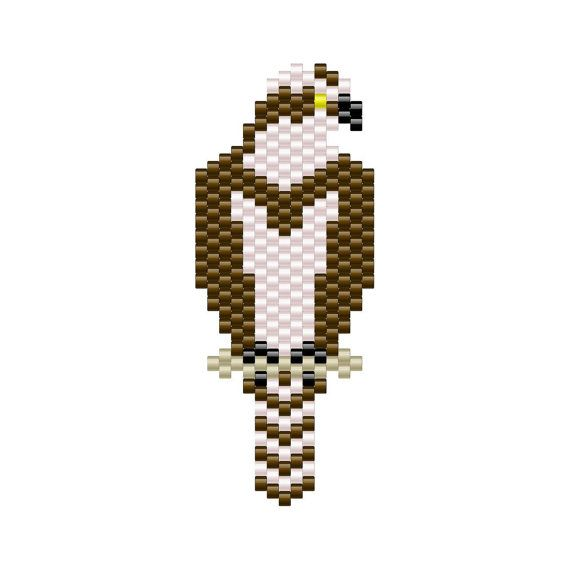 Osprey Pendant peyote pattern #1 More