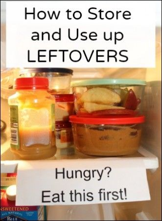 How to Store and Use Up Leftovers.  Lots of recipe links at the bottom to use up leftovers in