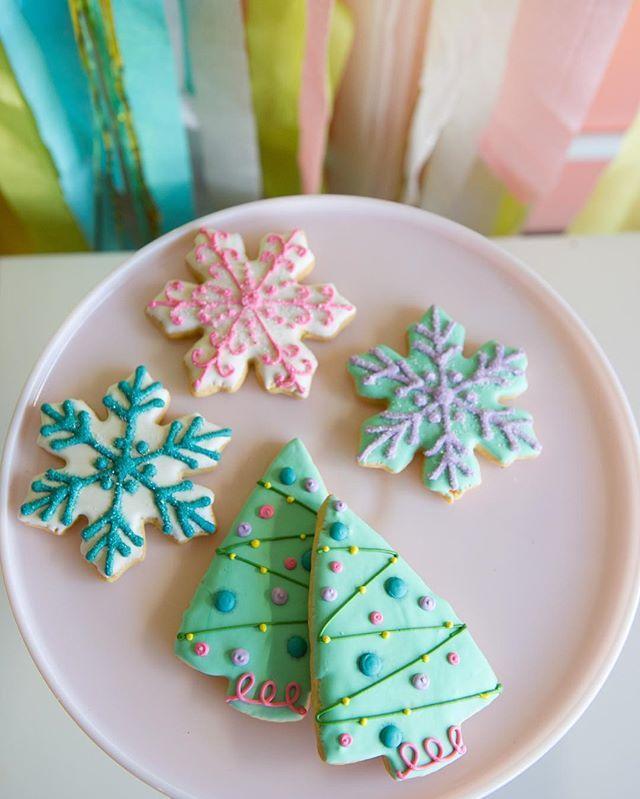 Pastel Christmas cookies by 2tarts Bakery