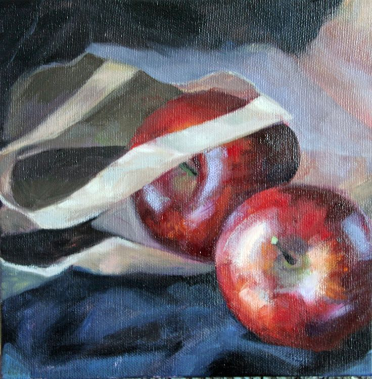 Red Apples, oil painting