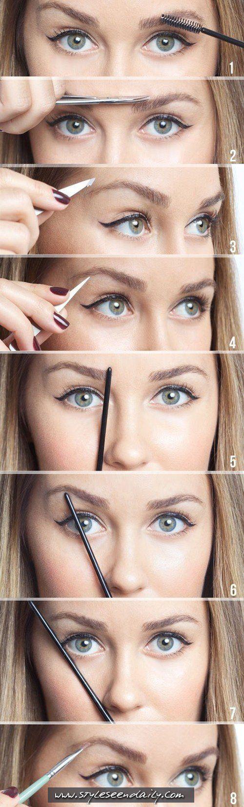 Measuring & trimming Eye Brows.