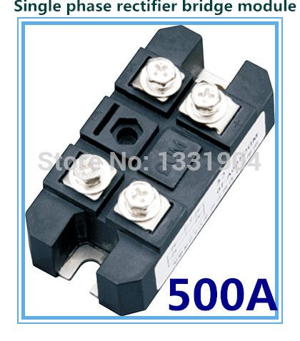 free shipping 500A Single phase Bridge Rectifier Module MDQ 500 welding type used for DC and rectifying power supply #Affiliate