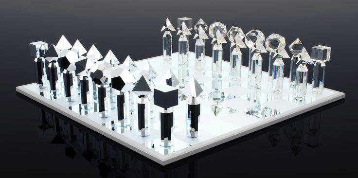 Crystal chess set.