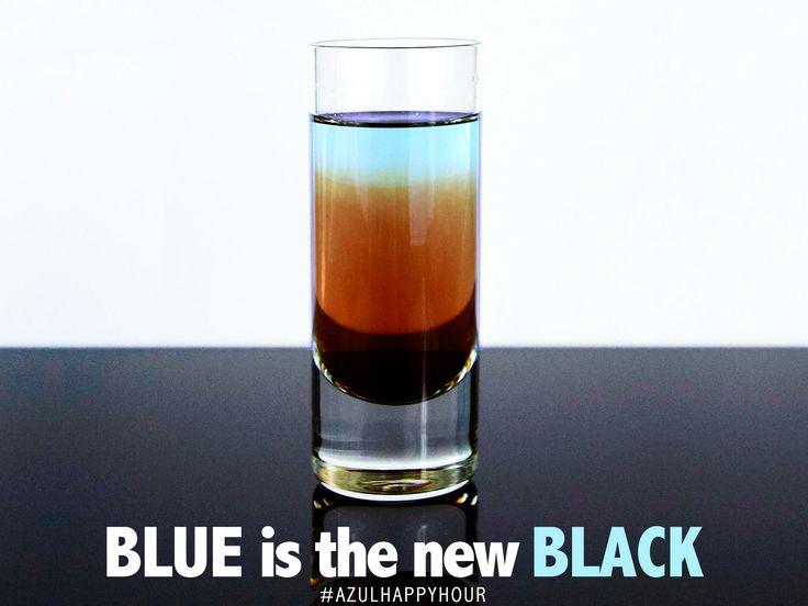 Blue is the new Black  1.5 oz Tarantula Azul 1/2 oz Jagermeister  Pour Tarantula Azul into a shot glass. Slowly layer in Jagermeister. Enjoy your happy hour with Tarantula Tequila