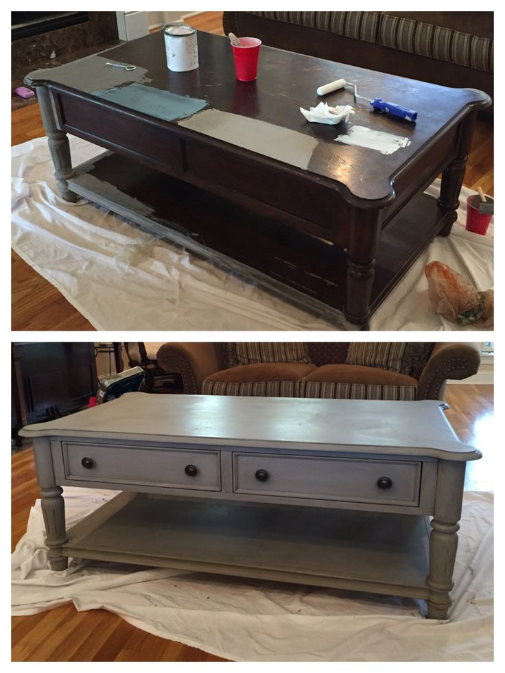 Love how this turned out! I used Amy Howard chalk paint in Selznick Grey with Valspar antiquing glaze.