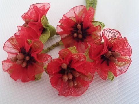 Kurdele oyaları Pembe menekşe çiçeği - YouTube