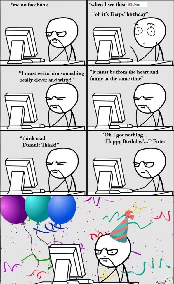 how to show birthdays on facebok memes