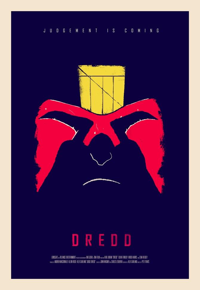 Judge Dredd Movie Poster - excites | Graphic Designer | Simon C Page