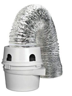 Dundas Jafine TDIDVKZW ProFlex Indoor Dryer Vent Kit with 4-Inch by 5-Foot Pr...