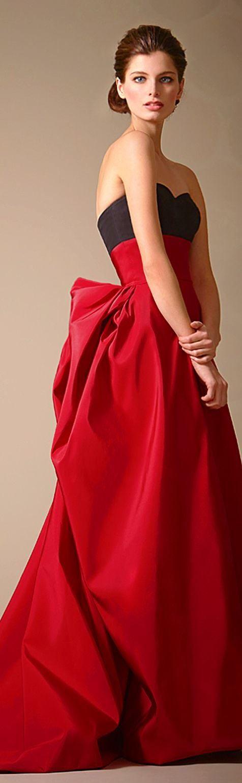 Vestido rojo y negro carolina herrera