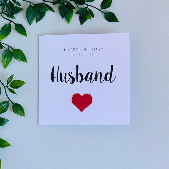 PERSONALISED Birthday Card WIFE Husband BOYFRIEND Girlfriend PREMIUM QUALITY