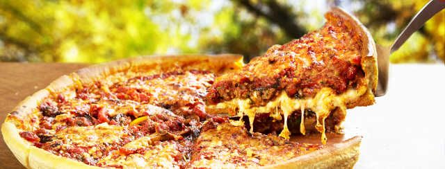 Chicago-Style Deep Dish Pizza with Red Wine Reduction Onion Marmalade Recipe Video