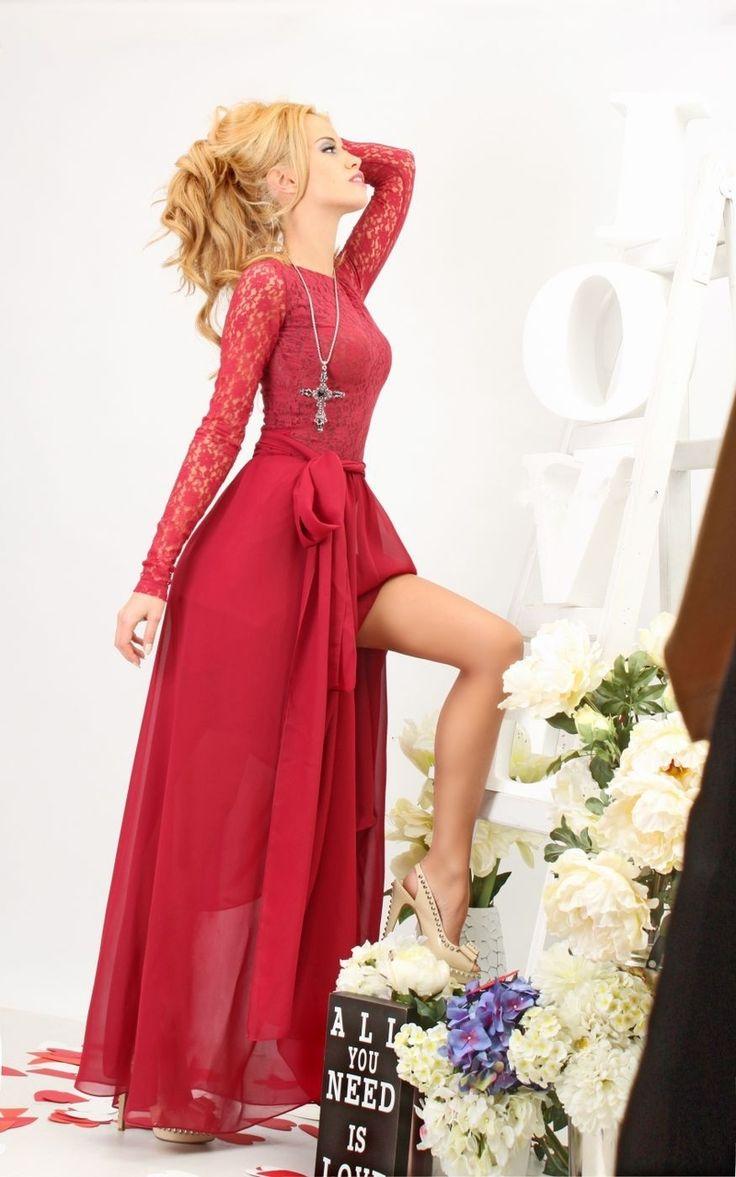 Long Dress Marsala - Baronesa Fashion House