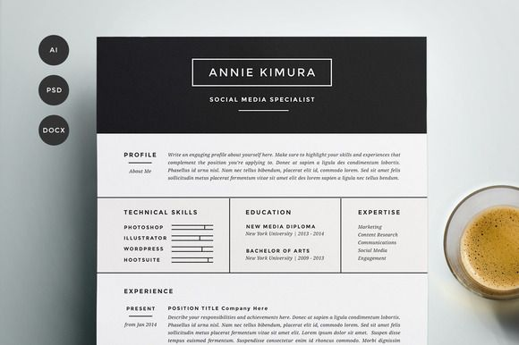 Check out Resume Template 4 Pack   CV Template by Refinery Resume Co. on Creative Market