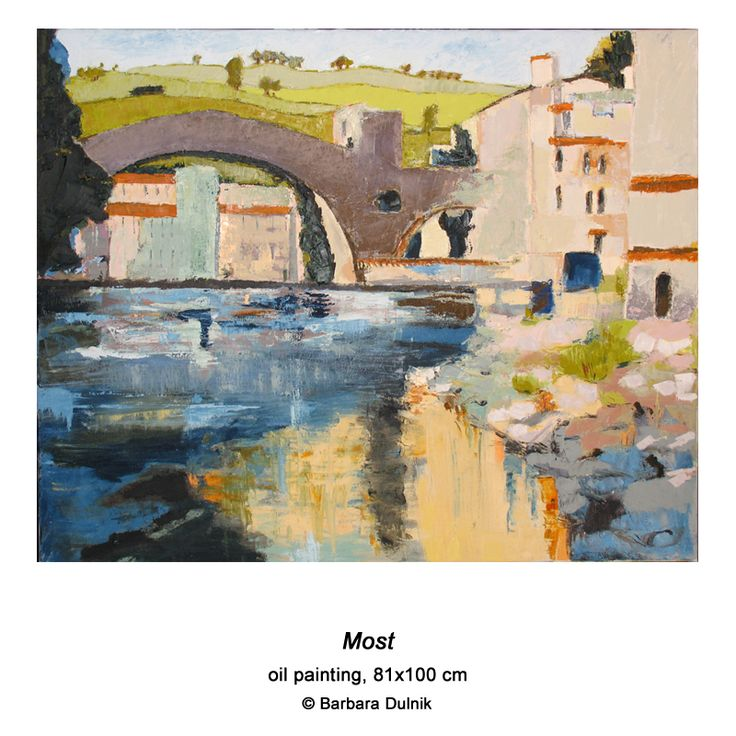 """Bridge"" - oil painting"