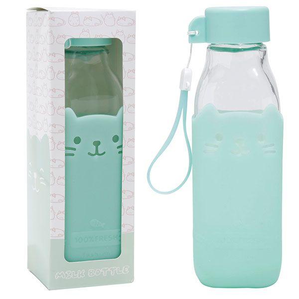 Kawaii Summer Staycation - cat water bottle