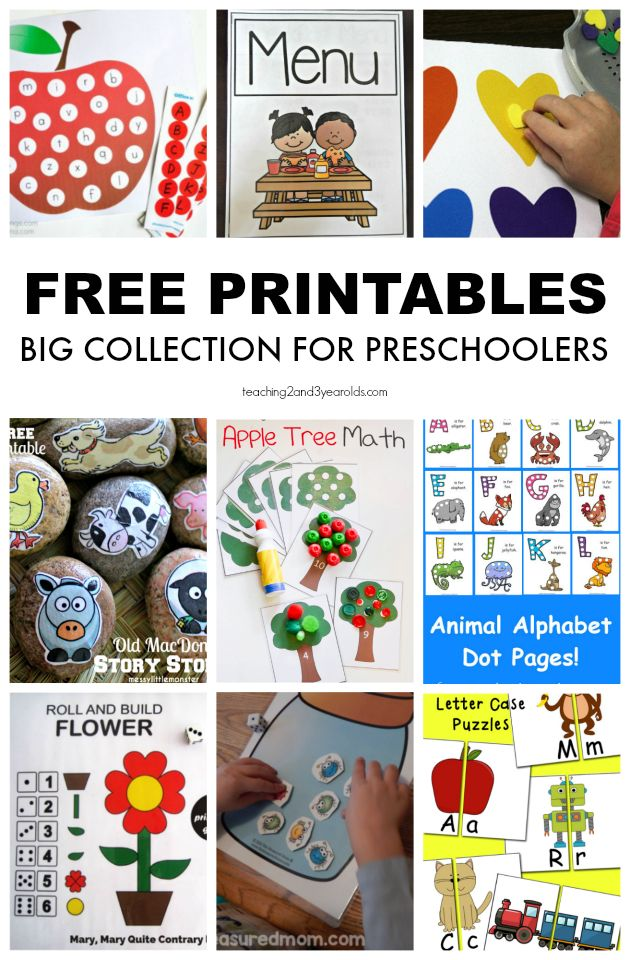 Free Preschool Printables for School and Home Preschool
