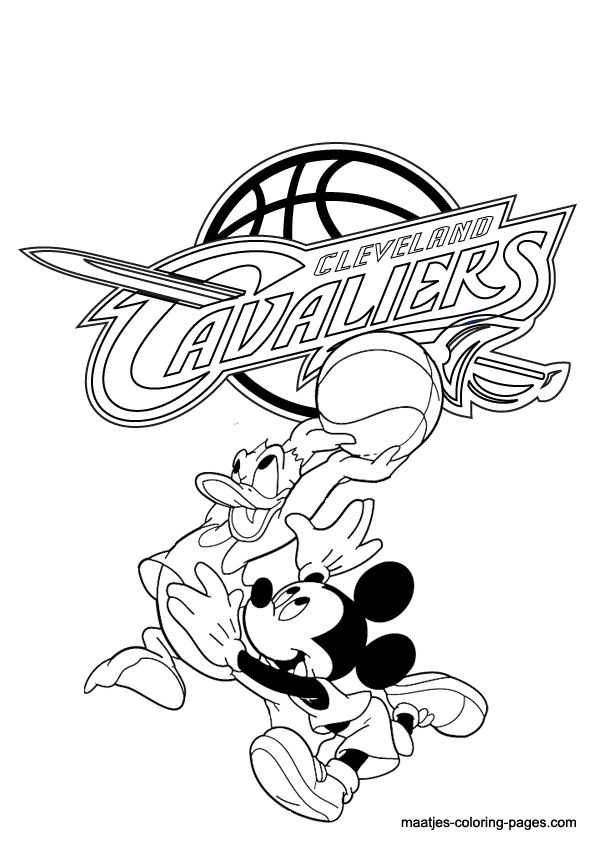 Cavs Coloring Pages Google Search Alexis Pinterest Colouring