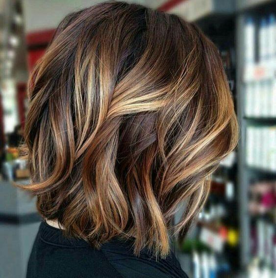 Real Human Hair Wig Short Bob Wig Piano Color Dark Brown with Carmel Blonde