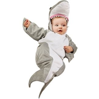 Baby shark costume. Parents could go as shark bite victims!