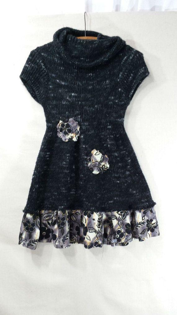 Upcycled Clothing / Upcycled Sweater Dress / by CuriousOrangeCat, $72.00