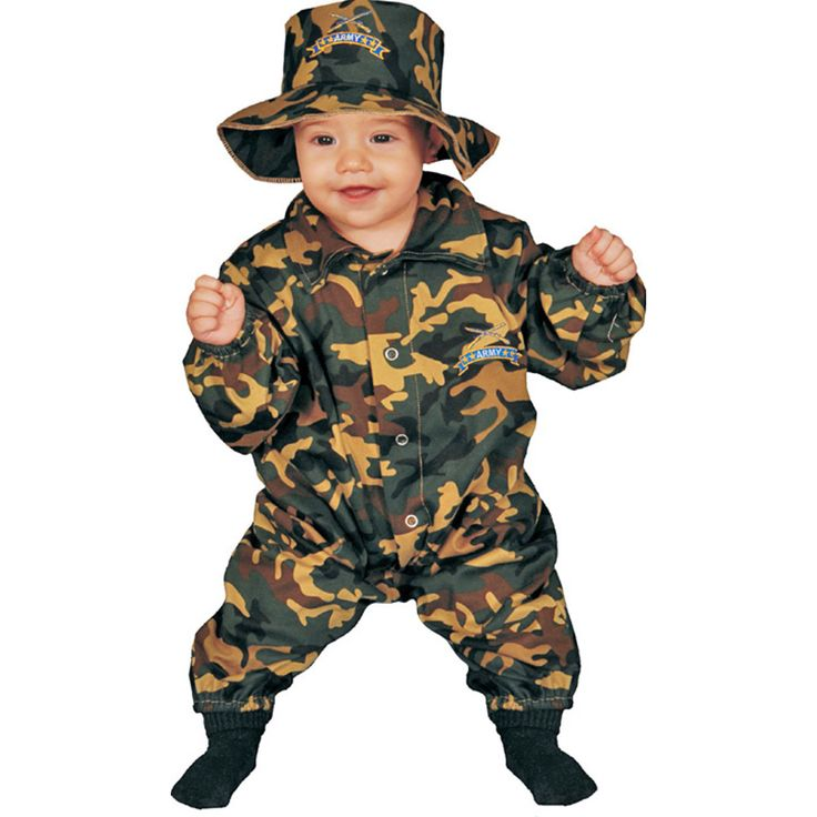 military kids gifts playsuit u0026 hat camouflage jumpsuit dress up set mos how cute is this