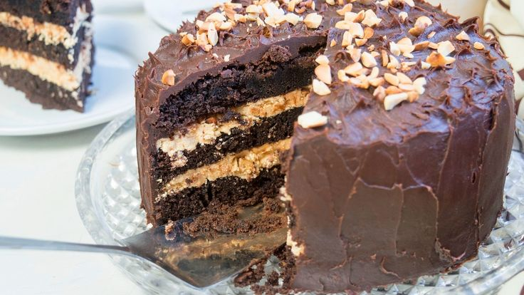 Шоколадно карамельный торт - YouTube  Caramel  Chocolate  Cake На кипятке