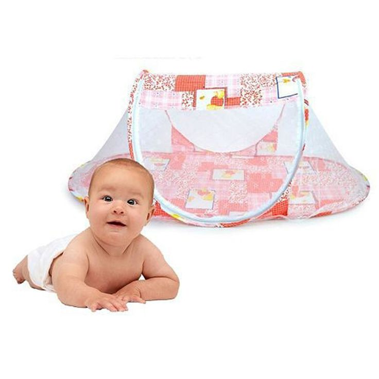 Summer Tent For Children Baby Infant Polyester Mesh Crib Netting Portable New Born Bed Cribs Folding  Net Cushion Mattress T0143