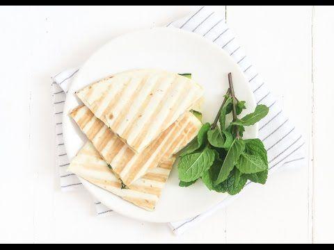 Quesadilla's met courgette en ricotta - Uit Pauline's Keuken