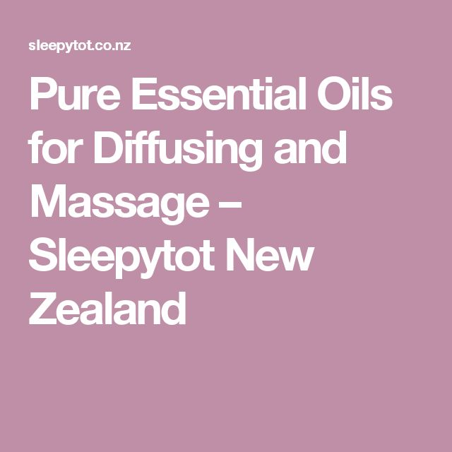 Pure Essential Oils for Diffusing and Massage – Sleepytot New Zealand