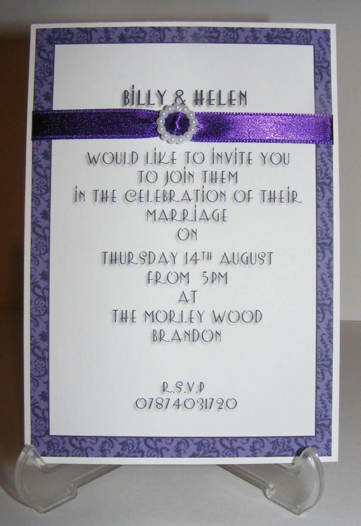 evening wedding Invitaion