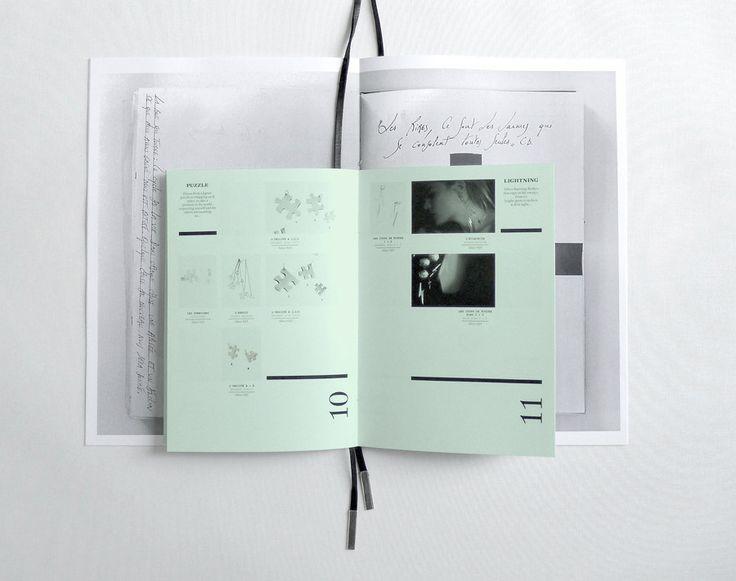 Brochure moodbook  et catalogue de collections  de la créatrice de bijoux  contemporains  Isabelle Lenfant -  Pam & Jenny (Belgique)