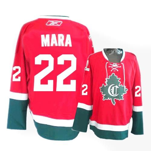 montreal canadiens paul mara 22 red authentic jersey sale