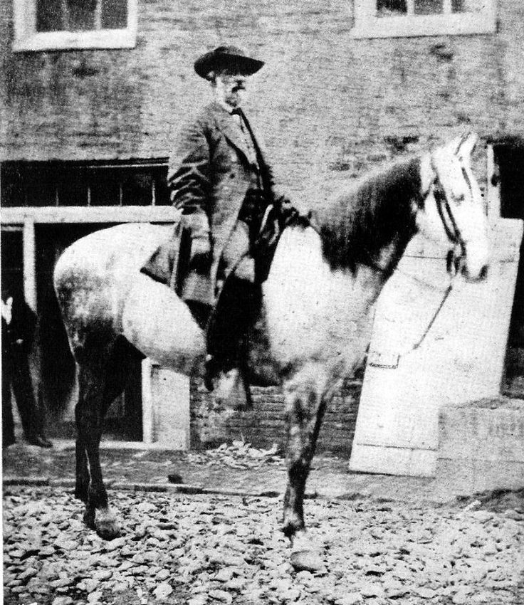 Confederate Gen. Robert E. Lee & Traveller.  Confederate Gen. Robert E. Lee & Traveller    Traveller was by far the most famous horse ridden during the Civil War.    Gen. Lee's saddle & horse tack is on display at the Museum of the Confederacy Richmond VA.