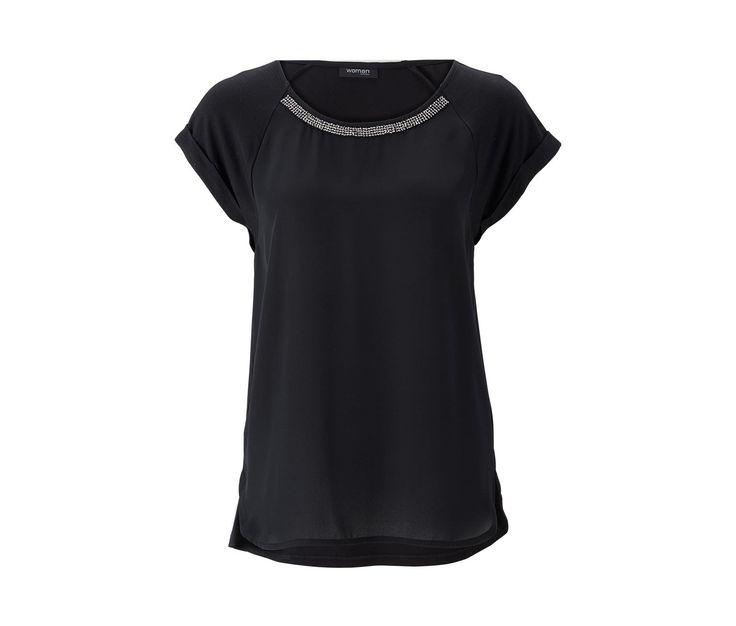 Blúzkové tričko, čierne 332309 z e-shopu Tchibo.sk