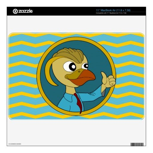 Puffin cartoon MacBook skin