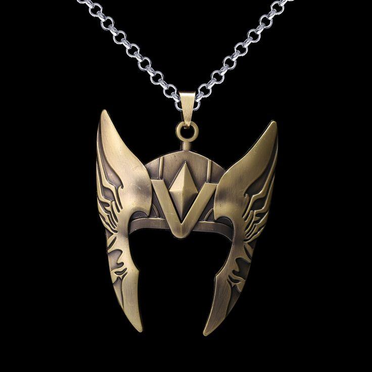 Thor's helmet necklace //Price: $8.00 & FREE Shipping //     #superheroez #superheroes #marvel #dccomics