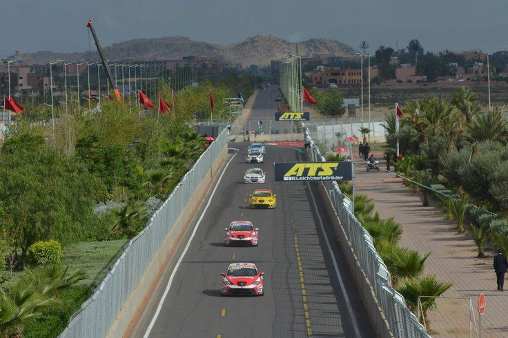 SEAT cars in Marrakech track.