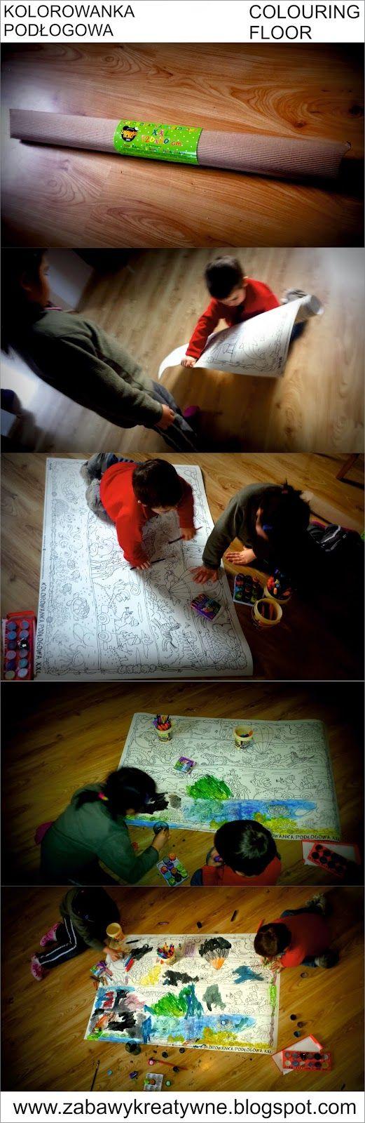 Zabawy kreatywne: Kolorowanka podłogowa