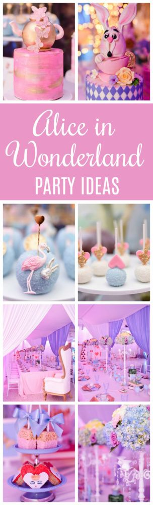 Modern Alice in Wonderland First Birthday Party