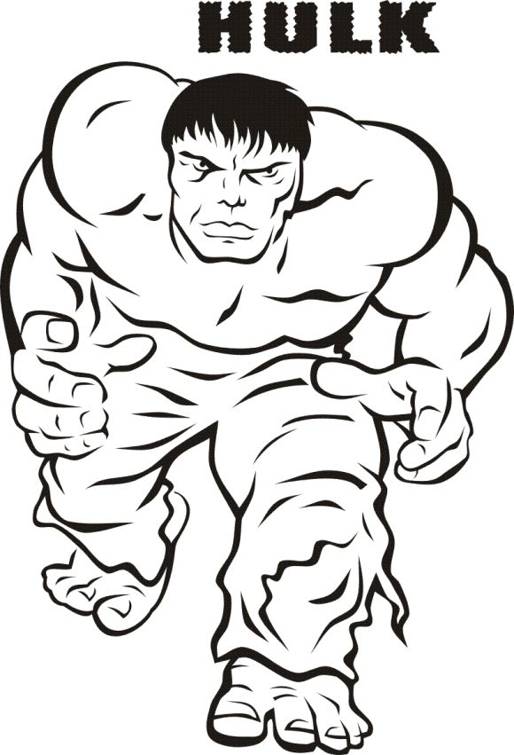 Hulk From The Avengers Coloring Page Printable Superheroes - copy avengers coloring pages online