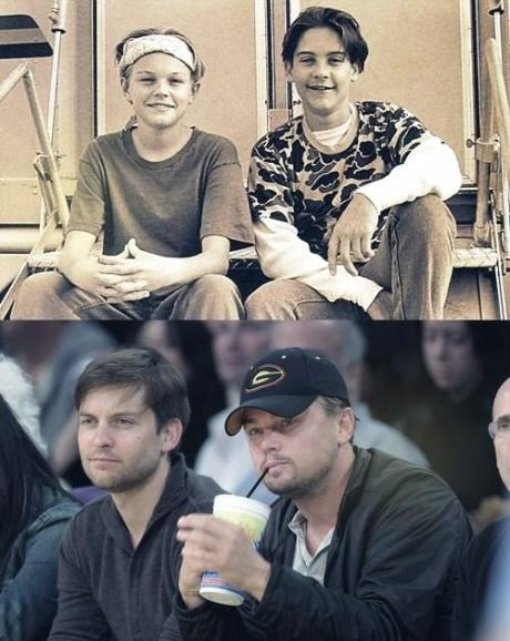 Tobey Maguire and Leonardo de Caprio