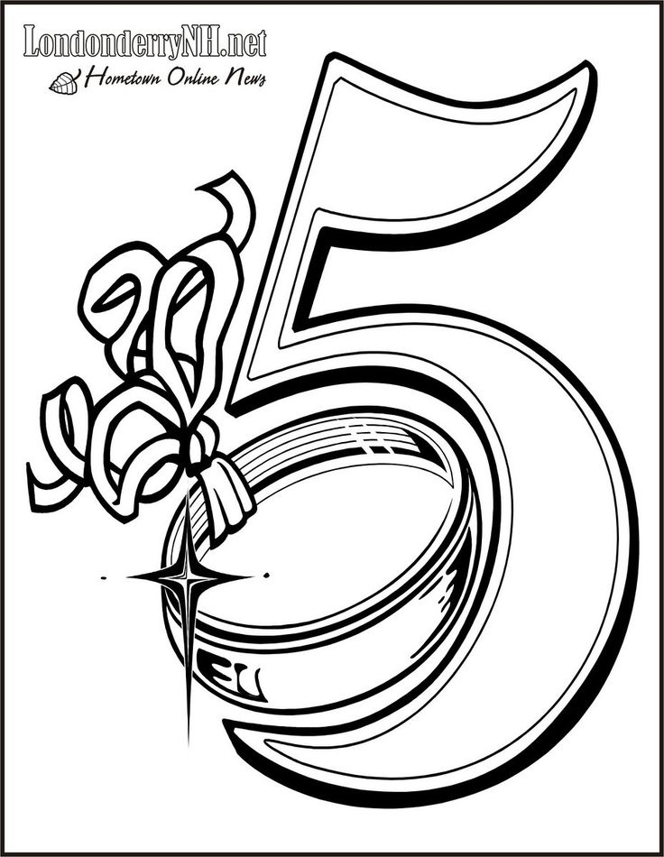 05 Golden Rings Free Printable 12 Days Of Christmas Coloring Pages
