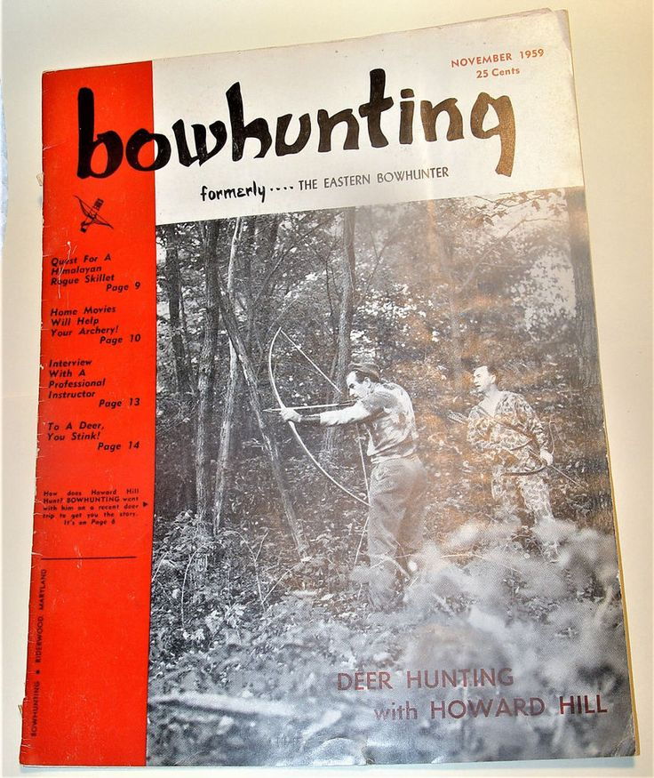 BOWHUNTING* FORMERLY THE EASTERN BOWHUNTER MAGAZINE -NOVEMBER 1959  | eBay