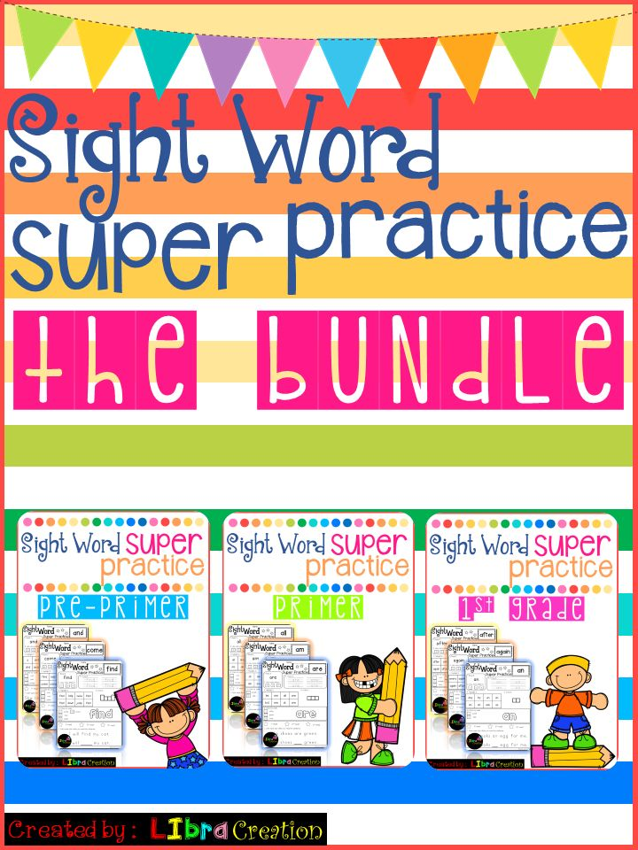 This Bundle Include : * 40 Pages Pre Primer * 52 Pages Primer * 41 Pages First Grade Preschool, Preschool Worksheets, Kindergarten, Kindergarten Worksheets, First Grade, First Grade Worksheets, Sight Word, Sight Word Activities, Sight Word Activities The Bundle, Bundle, Sight Word, Sight Word Printables