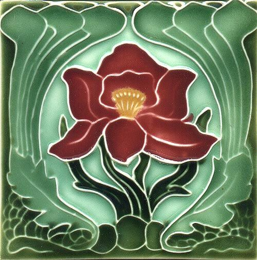 Art Nouveau decorative Ceramic tile by Imagesdesign on Etsy https://www.etsy.com/listing/196328242/art-nouveau-decorative-ceramic-tile