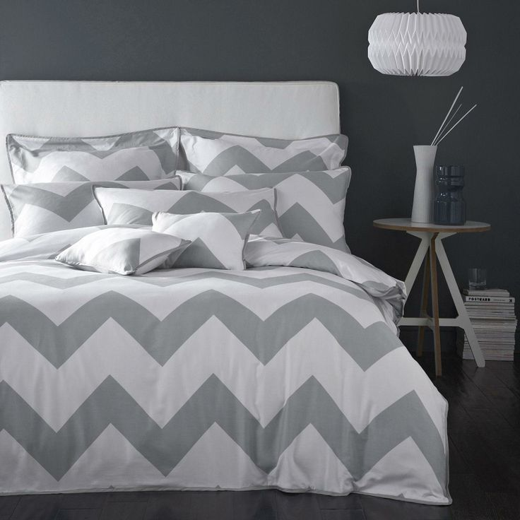 Boutique Chevron Charcoal Grey - Bedroom ideas birthday gift @Barb Berrafato