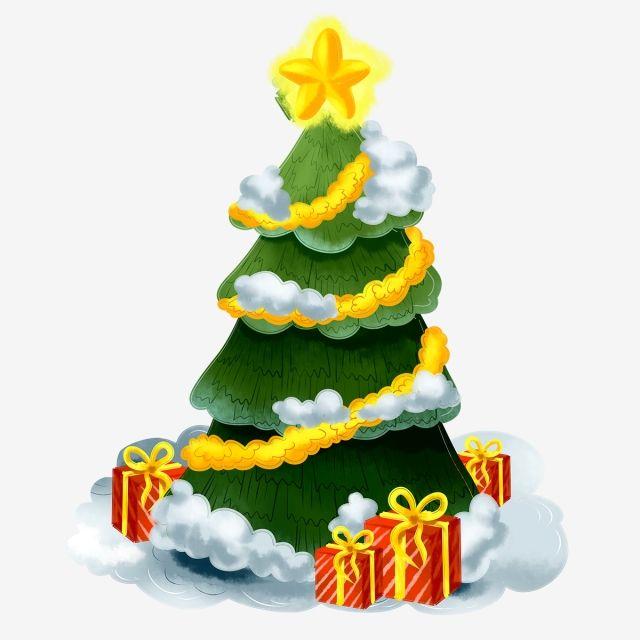 Cartoon Christmas Tree Element Cartoon Cute Christmas Png Transparent Clipart Image And Psd File For Free Download Cartoon Christmas Tree Christmas Tree Colored Lights Colorful Christmas Tree