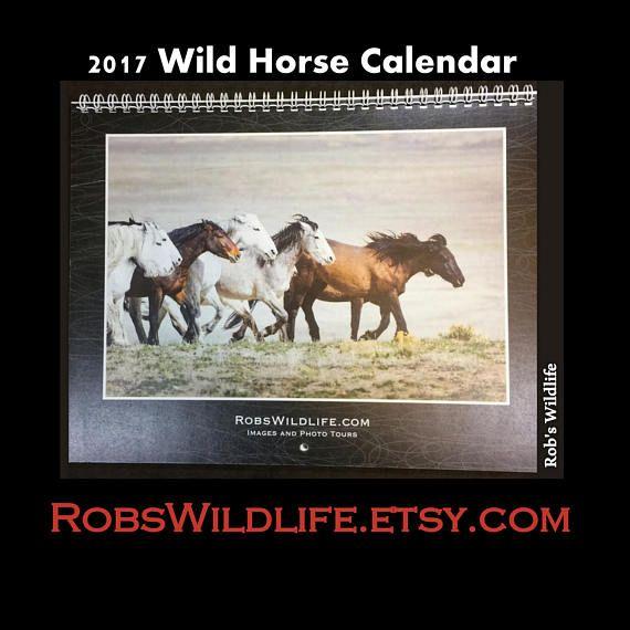 2017 Wild Horse Calendar, Horse Wall Calendar, Horse Gifts under 10, Horse Lover Gifts