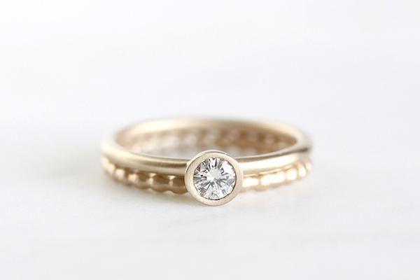 14k moissanite engagement ring | Andrea Bonelli - 1